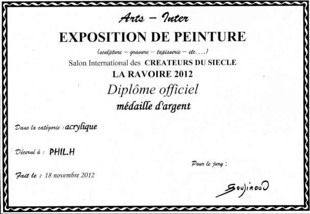 Expo Chambery Medaille d'Argent